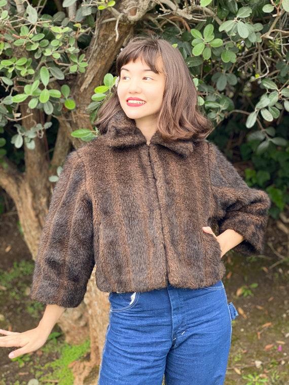 Happy Fall! - Vintage 1950s Fur Jacket - Vintage F