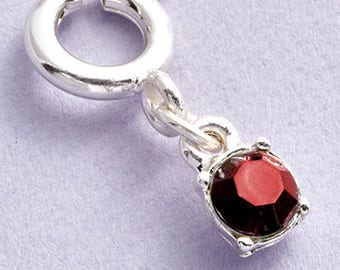 Birthstone Charms with Clasp