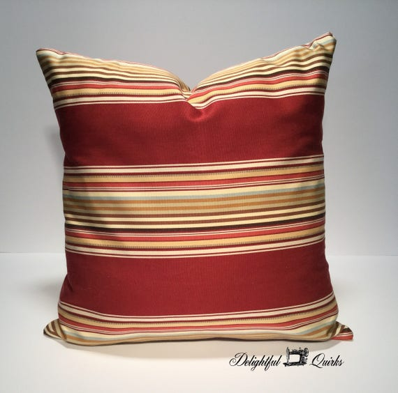 Striped Throw Pillow Decorative Pillow 40x40 Pillow Cover Etsy Adorable Throw Pillow Covers Etsy