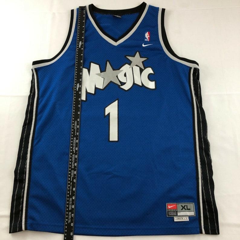XXL Orlando Magic #1 Tracy McGrady Blue Basketball Jersey Size S