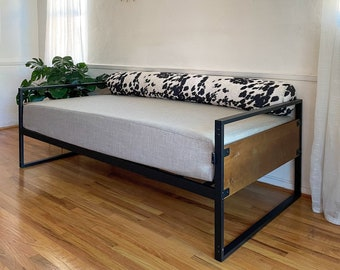 Daybed Slipcover, TWIN or FULL Mattress Cover, Fitted Daybed Cover, Over-Sized Seat Cushion,