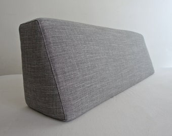 Wedge Bolster Pillow, Bolster Linen Case With Zipper, for Daybed and Long Daybed Bolsters,