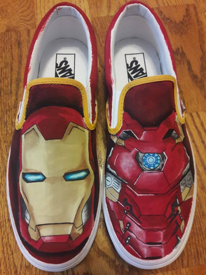 c49d12db8000 Custom Iron Man Painted Shoes