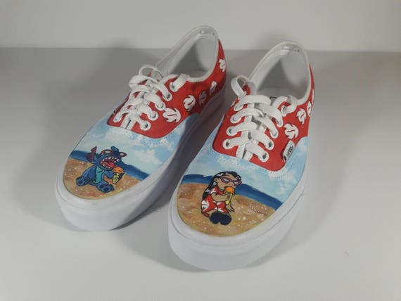 Custom Lilo & Stitch Painted Shoes