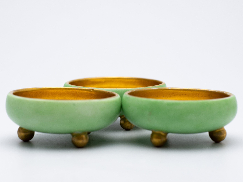 Antique Mz Austria Porcelain Salts Etsy