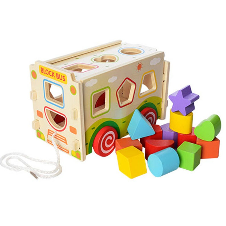 f190db39b6917 Bus sorter - Learning Toy - Montessori toddler toy - Toddler birthday gift  - Wooden toy - Educational toy
