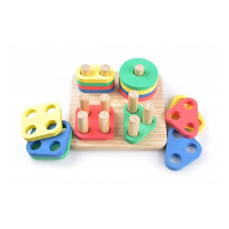 3d00f74d1d367 Sorter Geometry - Learning Toy - Montessori toddler toy - Toddler birthday  gift - Wooden toy - Educational toy