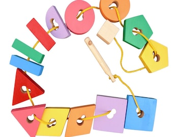 Sorter geometric key  - Learning Toy - Montessori toddler toy - Toddler birthday gift - Wooden toy - Educational toy