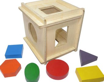 Simple sorter  - Learning Toy - Montessori toddler toy - Toddler birthday gift - Wooden toy - Educational toy
