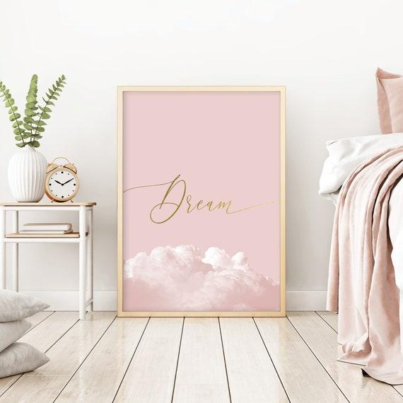 Erroten Rosa Und Gold Schlafzimmer Wand Dekor Druckbare Traum Etsy