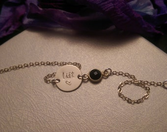 Hand-Stamped Solid Gold Fill Bracelet - Love to Lift