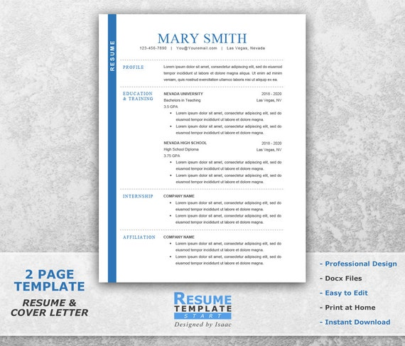 college resume template word college student resume template etsy