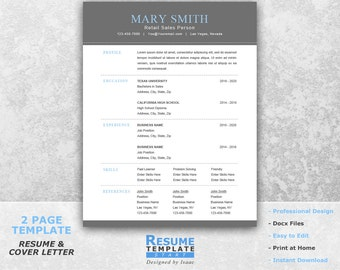Functional Resume Template Word   Professional Resume Template For Word   Word  Template For Resume