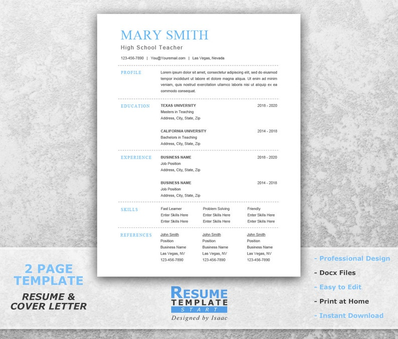 Traditional Resume Template Word Best One