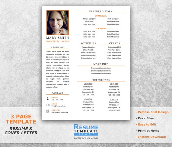 Professional Resume Template for Word CV Templates T14 Simple Resume Template Word Resume Cover Letter Template