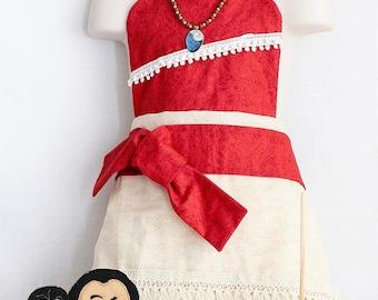 Moana Disney Princess Dress Up Apron - Reversible