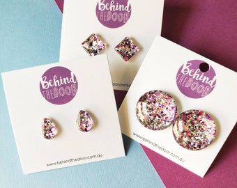 Behind the Door Glass Clip On Earrings