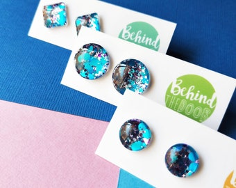 Mermaidia Glass Stud Earrings