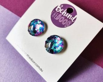 Lotsa Dots Glass Clip On Earrings