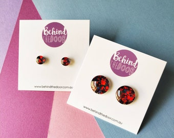 Seductress Glass Clip On Earrings
