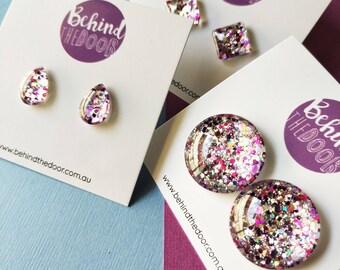 Behind the Door Signature Glass Stud Earrings