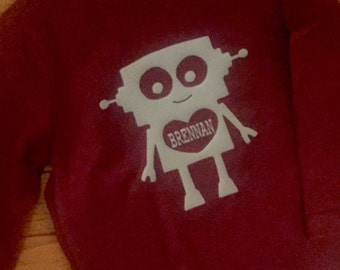Personilized Boys Valentine shirt