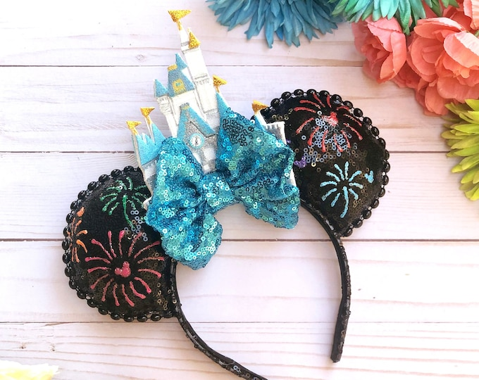 Firework WDW Castle Inspired Mouse Ears