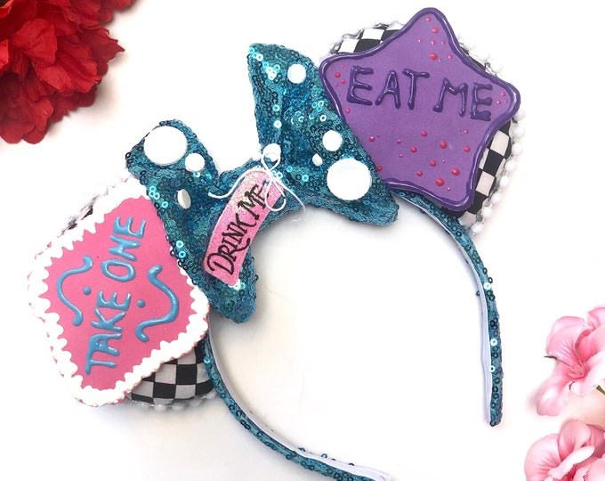 Wonderland Cookie Inspired Mouse Ears **SCENTED