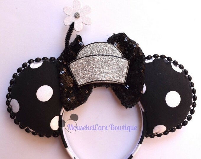 Black & White Minnie Mouse Inspired Ears
