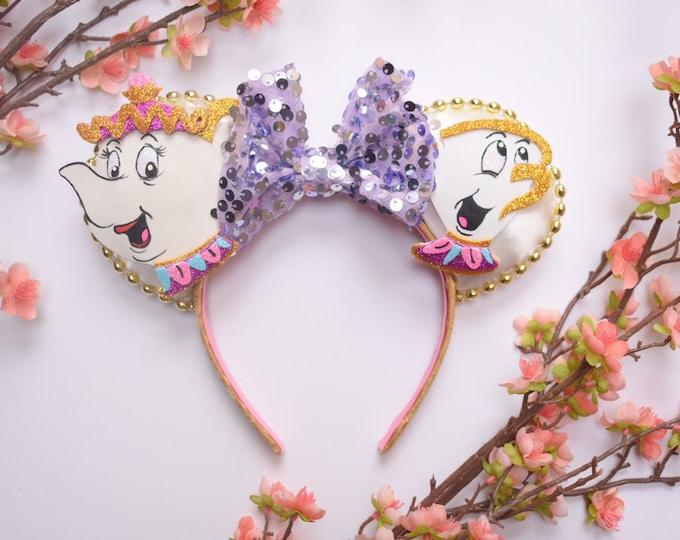 Mrs. Potts & Chip inspired Mouse Ears