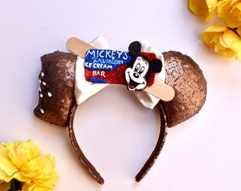 Mickey Ice Cream Bar inspired Mouse Ears