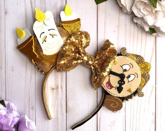 Lumiere and Cogsworth Inspired Ears