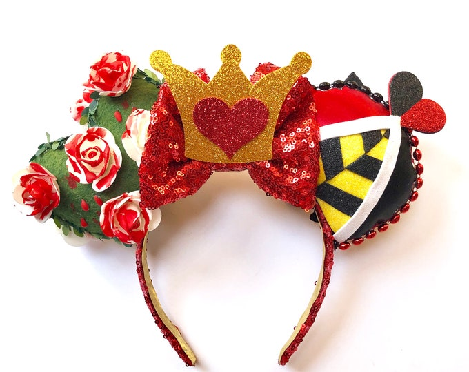 Queen of Hearts inspired Mouse Ears