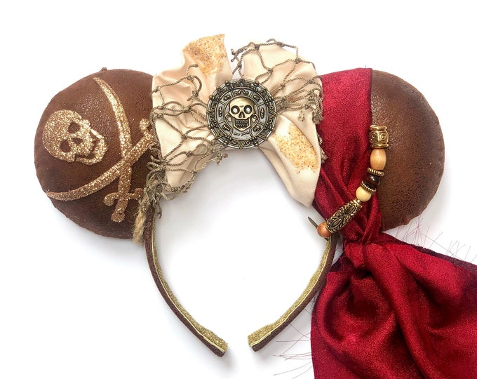 Pirates of the Carribbean inspired Mouse Ears
