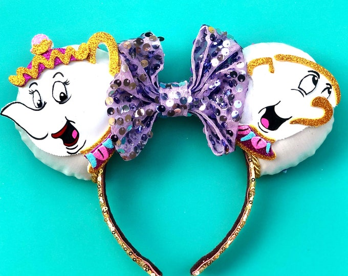 Mrs. Potts & Chip inspired Mouse Ears