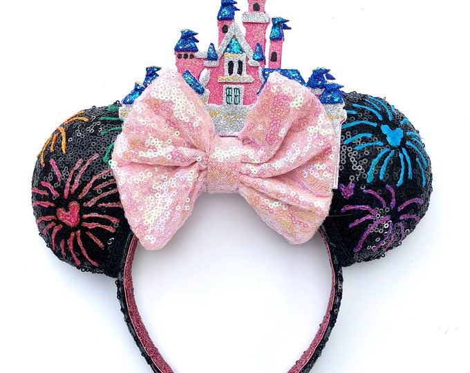 Firework Disneyland Castle Inspired Mouse Ears