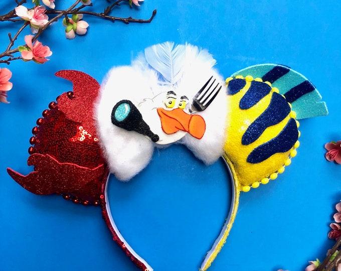 Sebastian and Flounder inspired Mouse Ears