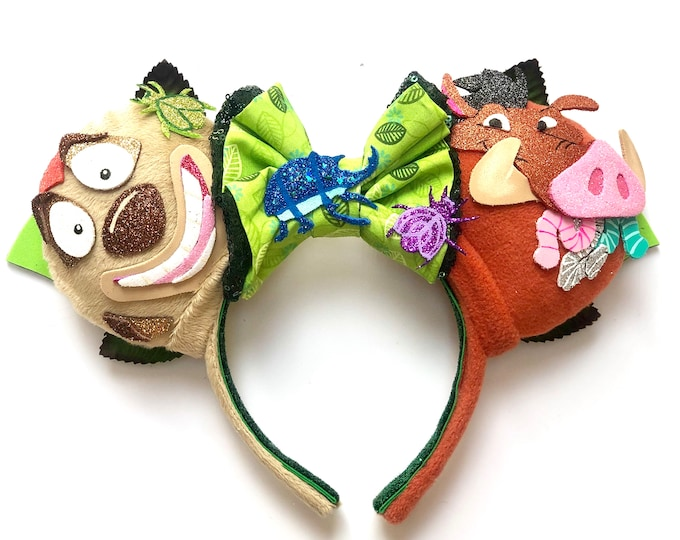 Timon and Pumbaa inspired Mouse Ears