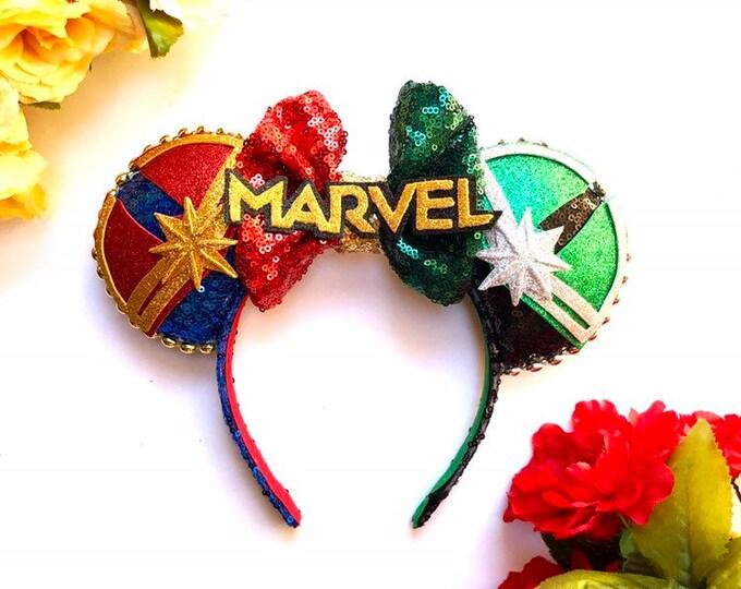 Captain Marvel inspired Mouse Ears