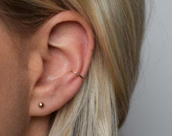 Ear Cuff - Gold Ear Cuff - Ear Wrap - Hammered Ear Cuff - Conch Cuff - Adjustable Ear Cuff - Fake Conch Ring - Delicate Ear Cuff