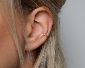 Ear Cuff - Rose Gold Ear Cuff - Ear Wrap - Hammered Ear Cuff - Conch Cuff - Adjustable Ear Cuff - Fake Conch Ring - Delicate Ear Cuff