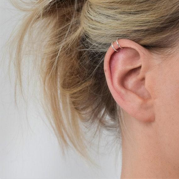 Etwas Neues genug Silver Helix Cuff Ear Cuff Double Helix Cuff Hammered | Etsy &AM_48