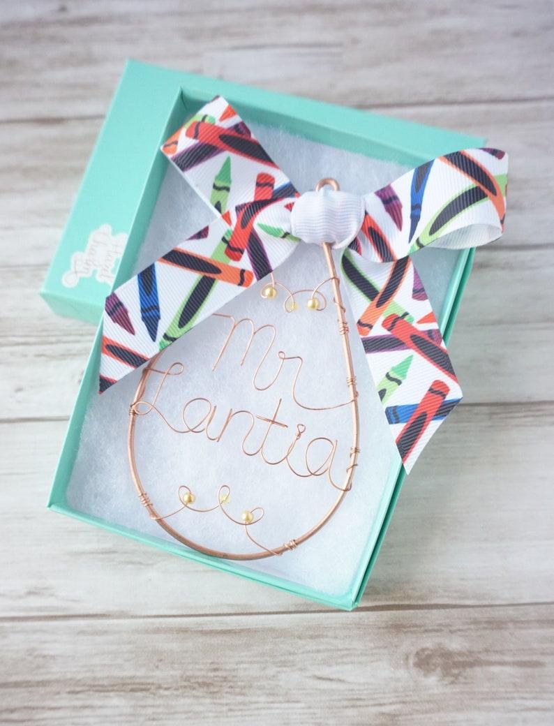Preschool Teacher Ornament Christmas Gift Personalized Teacher Gift For Kindergarten Teacher Present Teacher Gift Idea Engraved Ornament