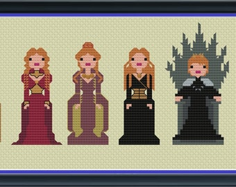Cersei Lannister Game of Thrones Unofficial Cross Stitch DIGITAL PDF (pattern only)