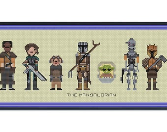 Star Wars The Mandalorian Cross Stitch DIGITAL PDF (pattern only) Unofficial The Child