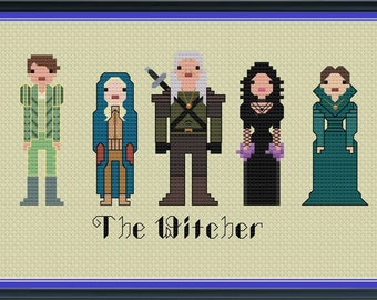 The Witcher Cross Stitch Pattern DIGITAL PDF Unofficial (Pattern Only) Geralt of Rivia