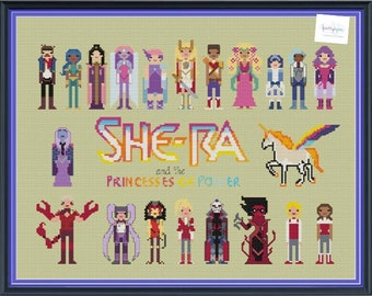 She-Ra & The Princesses of Power Unofficial Parody Cross Stitch DIGITAL PDF (pattern only)