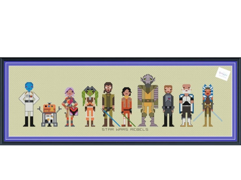 Star Wars Rebels Cross Stitch DIGITAL PDF pattern only image 0