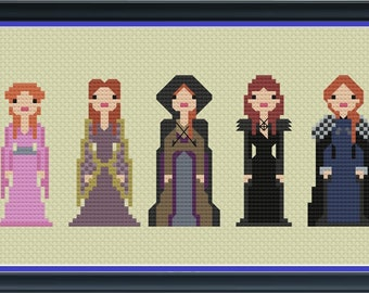 Sansa Stark of the North Game of Thrones Unofficial Cross Stitch DIGITAL PDF (pattern only) Winterfell