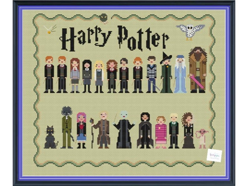 Harry Potter Friends & Enemies Unofficial Parody Cross Stitch image 0
